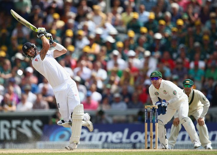 Kevin Pietersen lofts one over midwicket for six