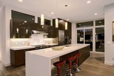 Queen Anne contemporary kitchen countertops modern and clean lines ...