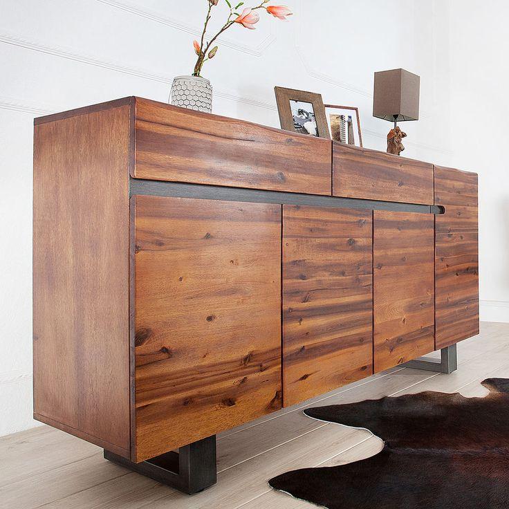 Massives Baumstamm Sideboard Genesis 170 Cm Akazie Massivholz Schrank Board Sideboard Baumstamm Holz
