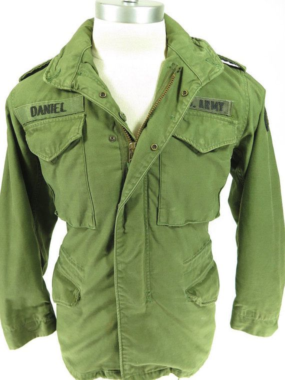 Vtg 70s Vietnam Field Jacket Coat Xs R Us Army Military