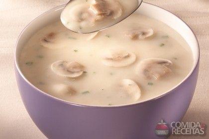Receita de Sopa creme de cogumelos em receitas de sopas e caldos, veja essa e outras receitas aqui!