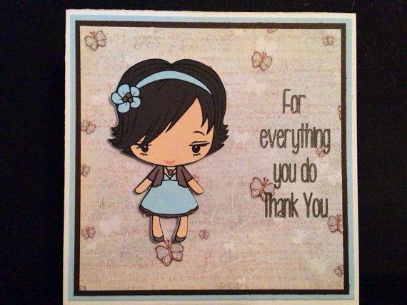 Handmade Thank You Card  on Etsy, $5.00 AUD