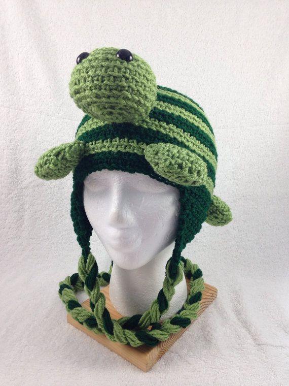 Crocheted Turtle Hat by AllCrochetCreations on Etsy