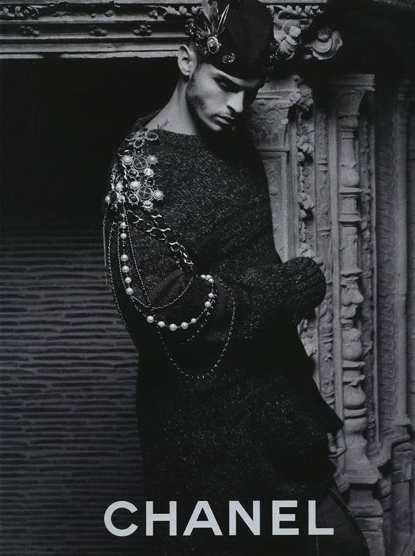 Baptiste Giabiconi by Karl Lagerfeld for Chanel Pre Fall 2013