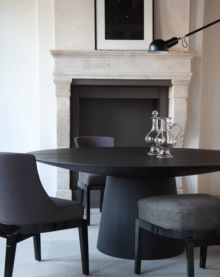 25+ best ideas about Black dining rooms on Pinterest | Black ...