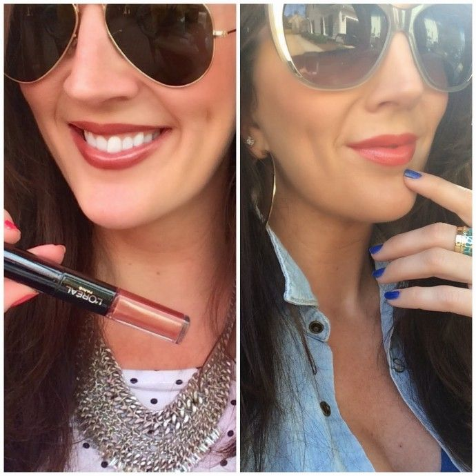 """- L'Oreal Infallible Pro Last Longwear Lip color Left to right :  """"ALWAYS ALMOND"""" and  """"CORAL CONSTANT"""""""