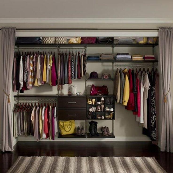 задача гардеробная комната с занавеской фото себя
