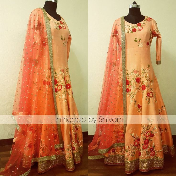 Intricately hand embroidered floor length in pure raw silk . To order/enquiry, email at shivani@intricado.com or Inbox on Facebook page www.facebook.com/intricado or Whatsapp at +918527463626 #reshamwork #silkthreadwork #embroidery #floralwork #floralembroidery #florallehenga #indianembroidery #indianethnic #indianbridal #indiancouture #indianwedding #sangeetoutfit #sangeetnight #indianfashion #intricadobyshivani #floralanarkali #indianbride #punjabiwedding #engagementgown #sangeetoutfit…