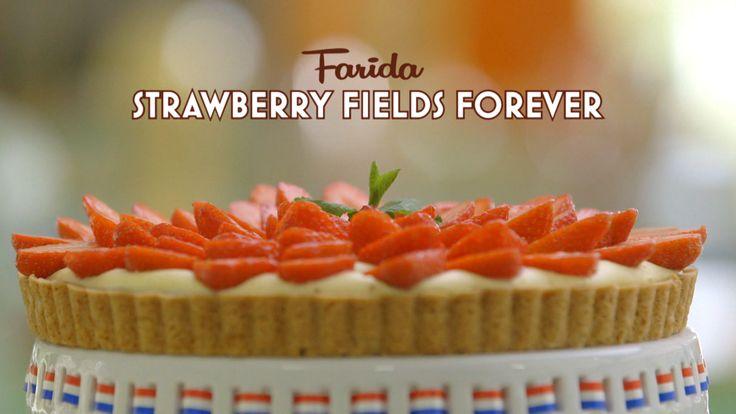 Farida's zomerse Strawberry fields forever-vlaai