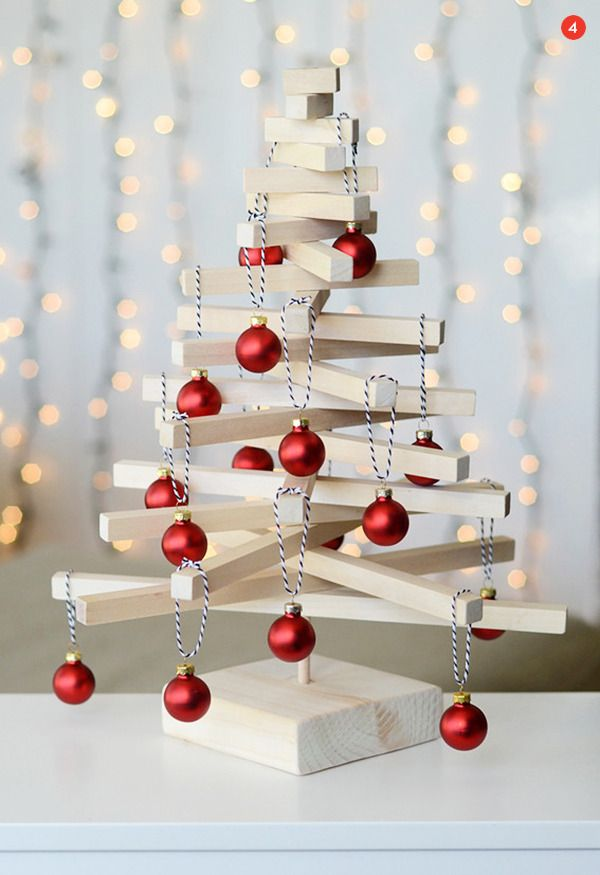 Roundup: 10 of Our Favorite DIY Tabletop and Alternative Christmas Tree Ideas » Curbly | DIY Design Community
