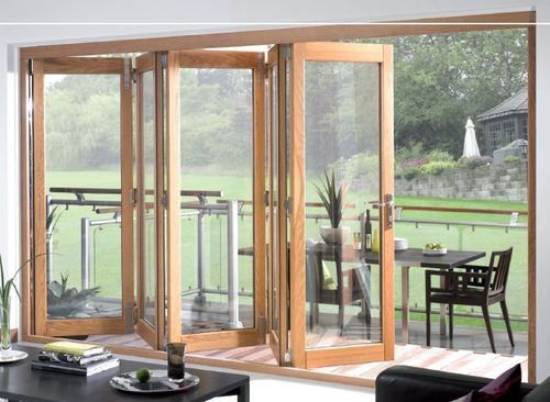 Oak External Wooden Timber Bi Fold Tri Fold Folding Sliding French Doors  Pairs |