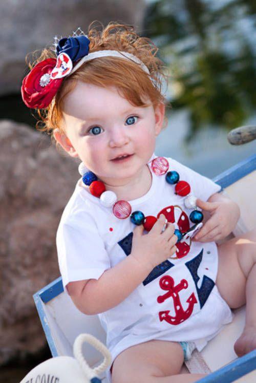 Oooohhhh!!!! So cute!:) Little red head with blue eyes!!! So cute!!!:)
