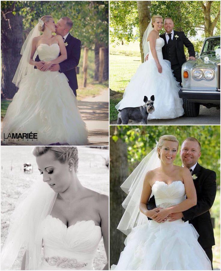 Zsuzsi bride by La Mariée Budapest bridal  #Benicarlo dress by Pronovias
