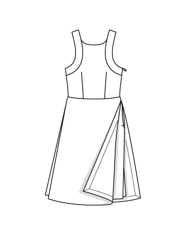 Платье с декольте на спинке - выкройка № 121 из журнала 7/2015 Burda – выкройки…