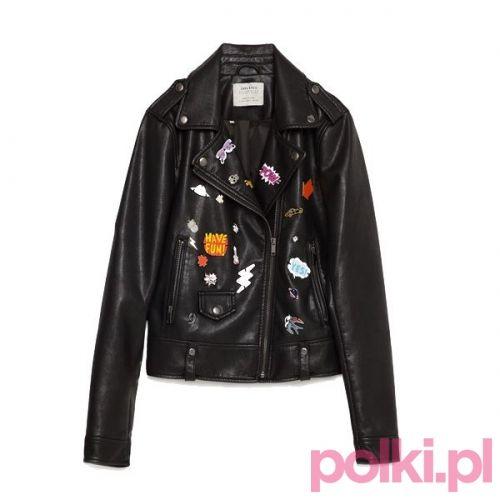 #ramoneska #jacket #polkipl #naszywki #zara #bikerjacket