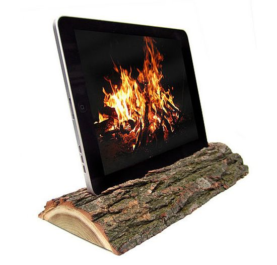 ipad dock to warm you up :) great for ambience and apartments without fireplaces!