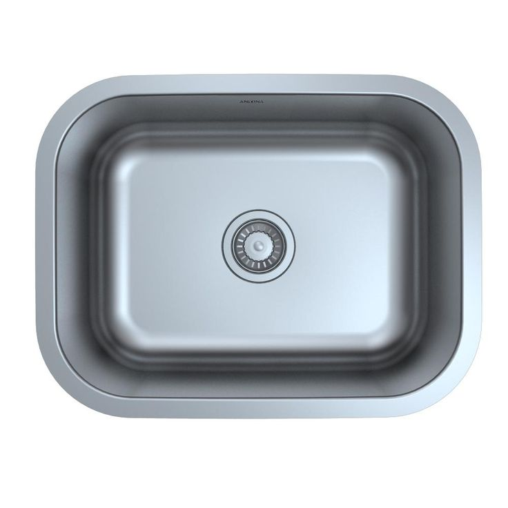 Capri Series Undermount Stainless Steel 23 in. Single Bowl Kitchen Sink in Satin Finish with Strainer, Satin Stainless Steel