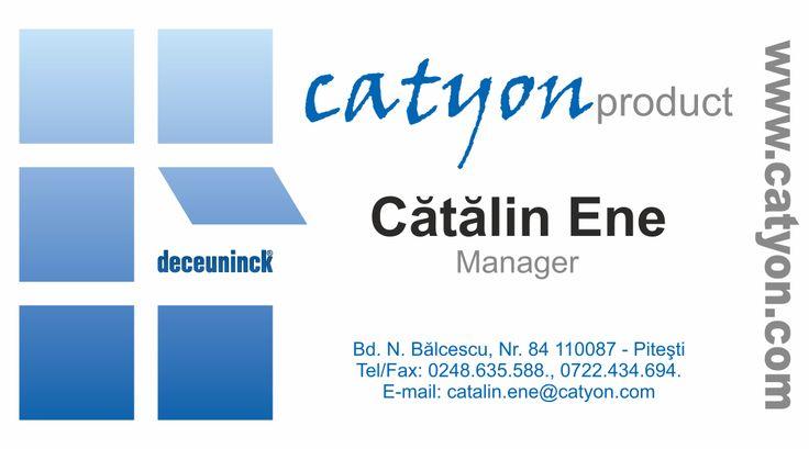 Carti de vizita - Catyon 2014 - CoMas Advertising