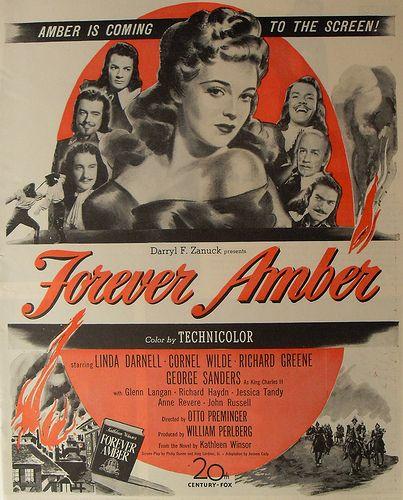 1940s VINTAGE MOVIE POSTER Linda Darnell Advertisement Hollywood 1947 Illustration FOREVER AMBER by Christian Montone, via Flickr