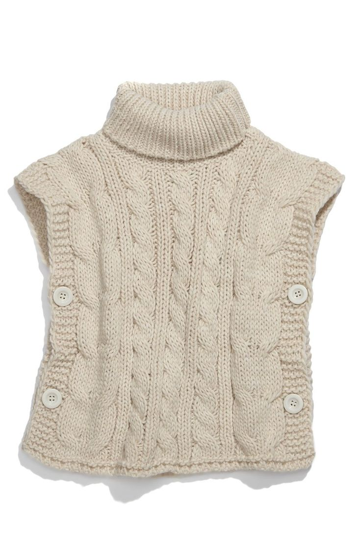 Free shipping and returns on United Colors of Benetton Kids Sweater Vest (Little Girls & Big Girls) at Nordstrom.com. Cable knit patterns lend visual and tactile dimension to a delightful turtleneck vest marked by a button-closure along each side.