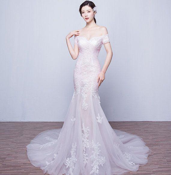 Abrigo vestido de novia, falda de cola de pescado. línea elegante, V