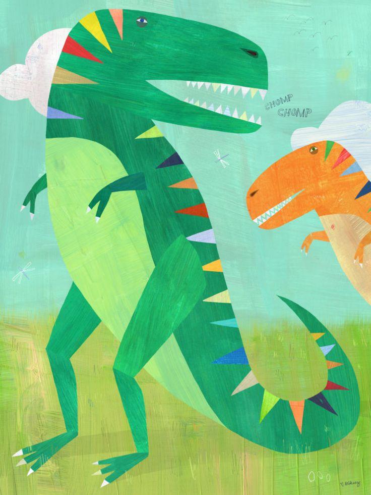 Nice Melanie Mikecz Publishing Drawn to better Astound us Kid SchlafzimmerKinderzimmerManhattanRoboterMonsterDinosaur