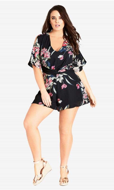 Shop Women's Plus Size Misty Floral Playsuit   City Chic USA