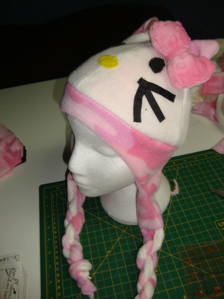 Hello Kitty Lined fleece hat  $20