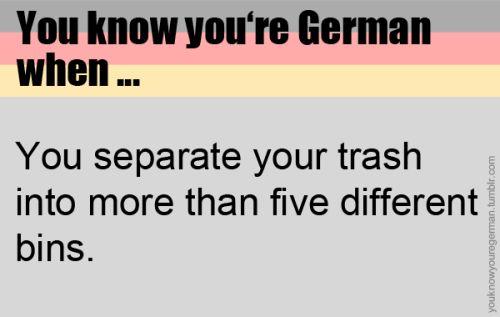 Mülltrennung.