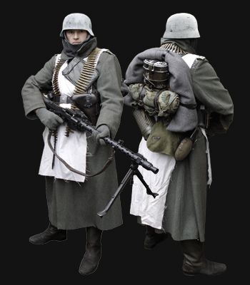 WW2 German MG34 Gunner - Russian Front Winter 1941 picture copyright Neil Barlow