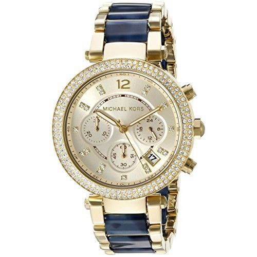 Michael Kors Women's MK6238 Parker Blue Watch. Available at #Brandinia      www.Brandinia.com