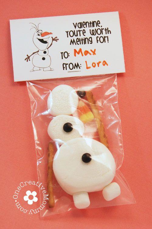 Frozen Olaf Valentines {Free Printable}