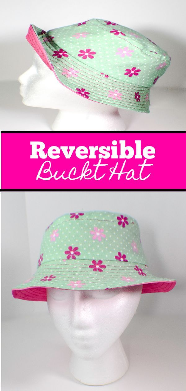 Make A Reversible Bucket Hat Sewing Projects For Beginners Sewing Projects Sewing For Beginners