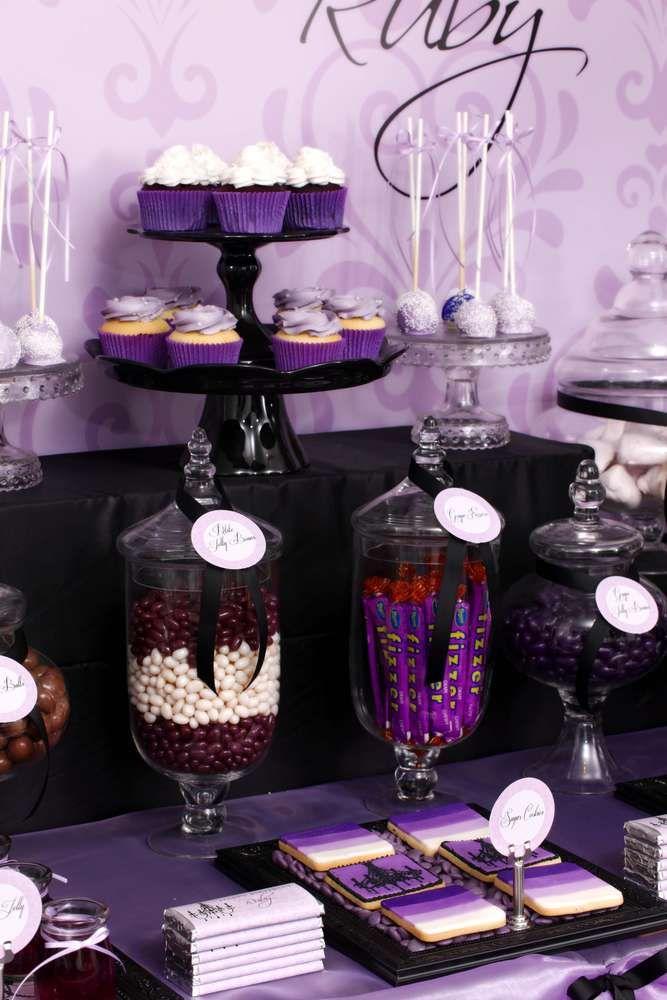 Purple Amp Black Sophisticated Tween Birthday Party