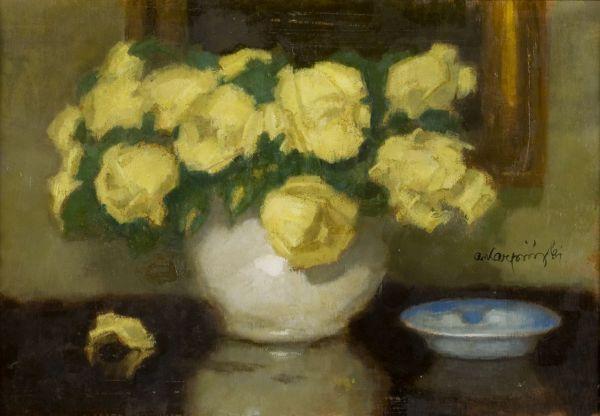 Żółte róże - Alfons Karpiński