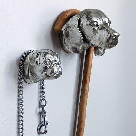 Dog Head Hooks - Door Knobs, Handles & Hooks - Treat Your Home - Home Accessories