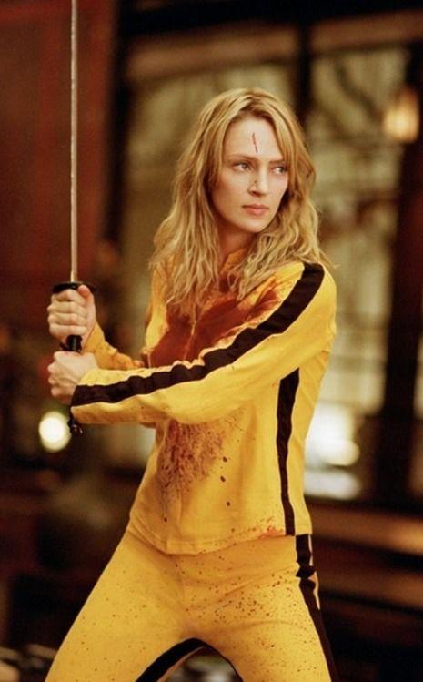 Uma Thurman yellow tracksuit in Kill Bill