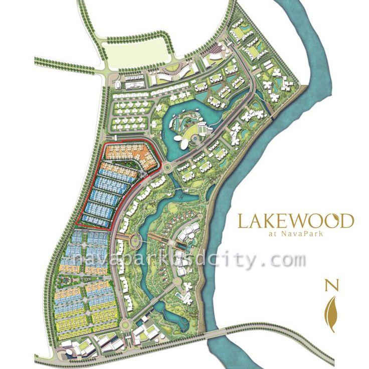 Site plan cluster Lakewood NavaPark BSD