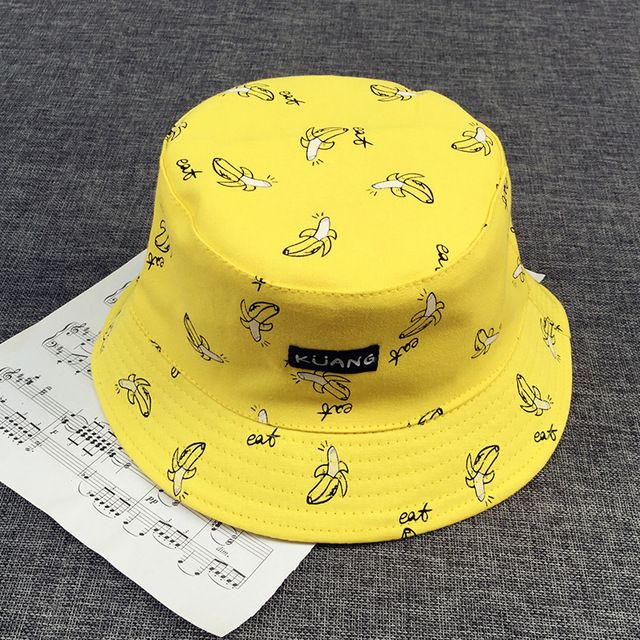Bucket cap Man Women Unisex cotton Banana Hat Bob Caps Hip Hop cool outdoor sports Summer ladies Beach Sun Fishing Bucket Hats #VORON #Bucket_Hats #women_clothing #stylish_Bucket_Hats #style #fashion
