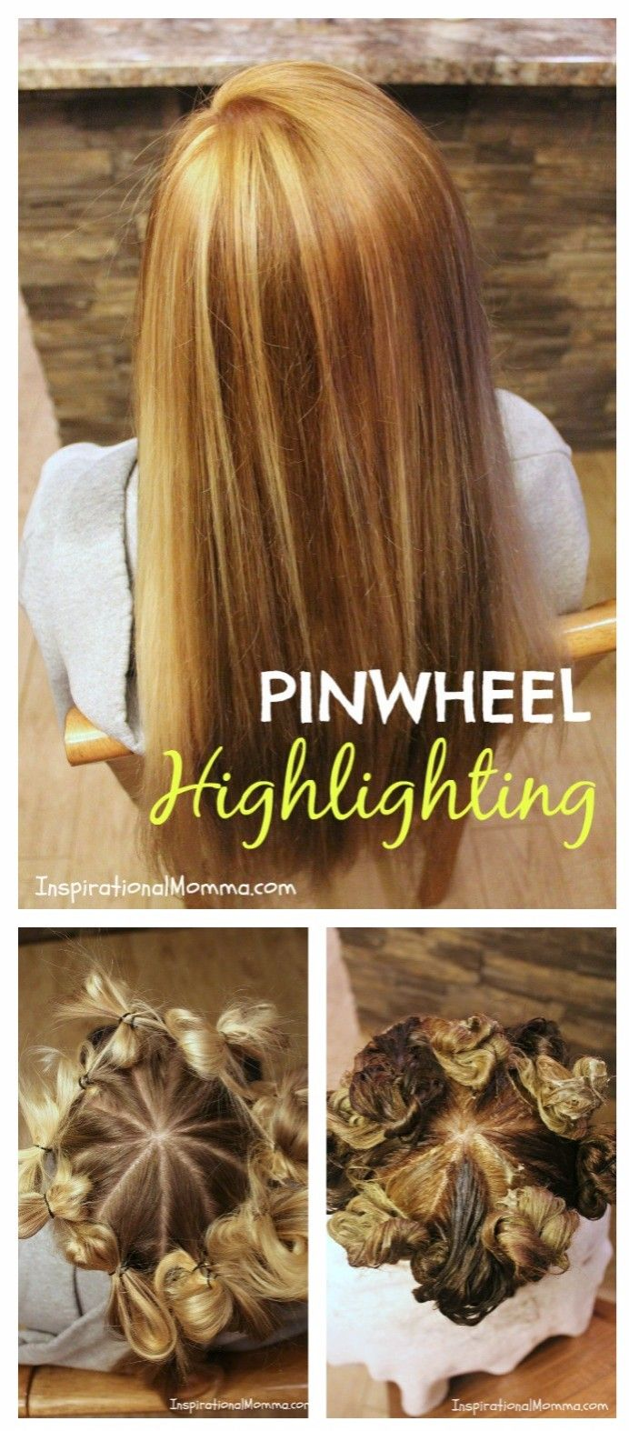 Pinwheel Highlighting - This simple technique guarantees you a natural highlighted look everytime. No experience needed to create a gorgeous salon look!