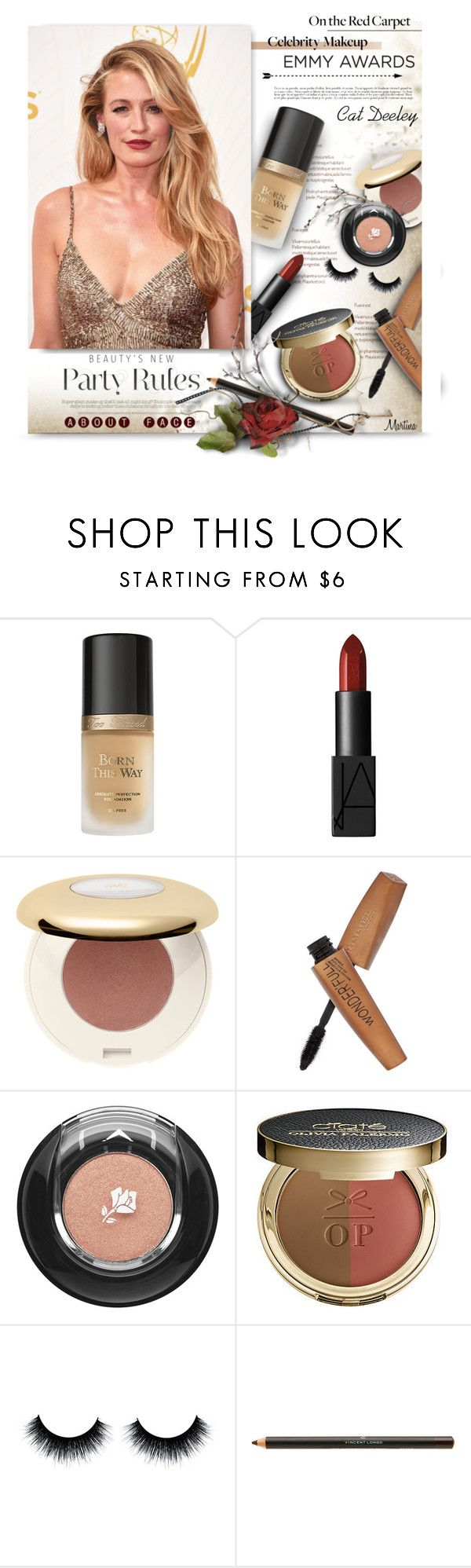 """""""Emmy Awards: Cat Deeley"""" by thewondersoffashion ❤ liked on Polyvore featuring beauty, Too Faced Cosmetics, NARS Cosmetics, H&M, Rimmel, Lancôme, Ciaté, Vincent Longo, RedCarpet and Beauty"""