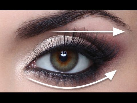 THE STRAIGHT LINE TECHNIQUE FOR HOODED EYES! FULL DEMO - YouTube