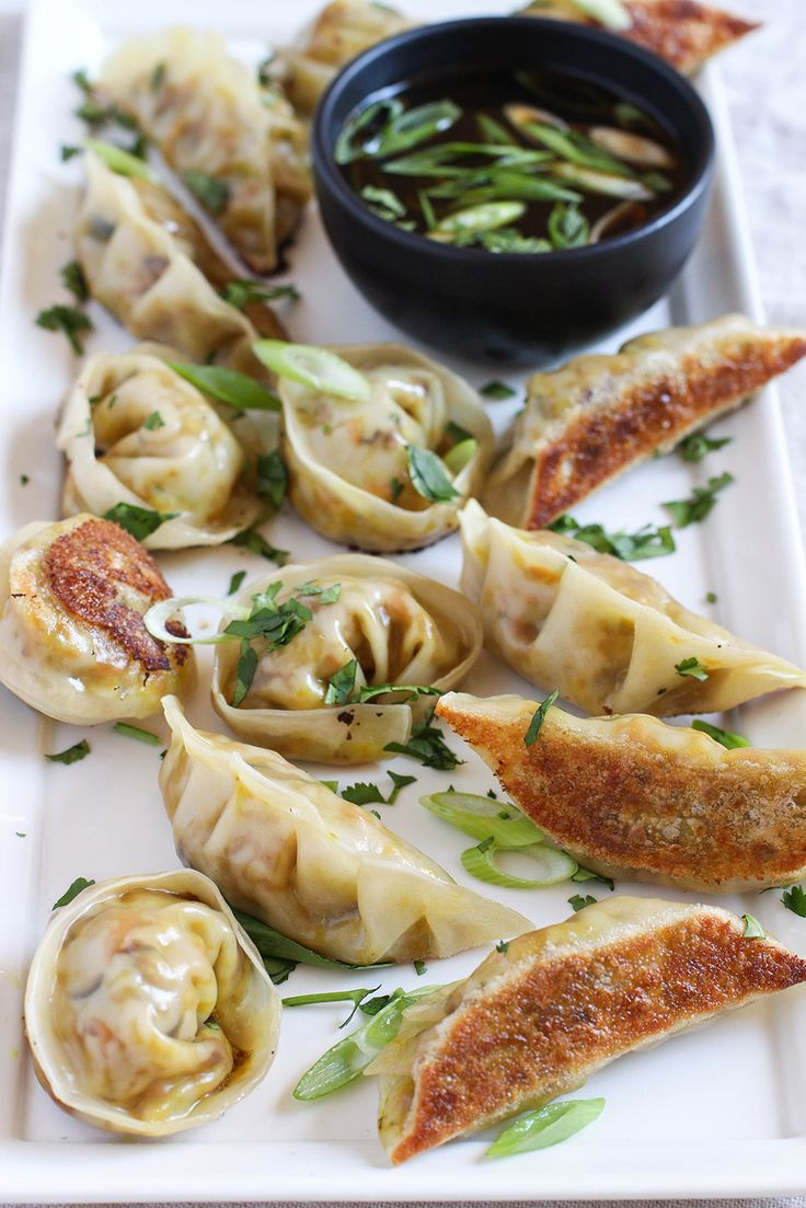 Vegan Turmeric Spiced Veggie Potstickers