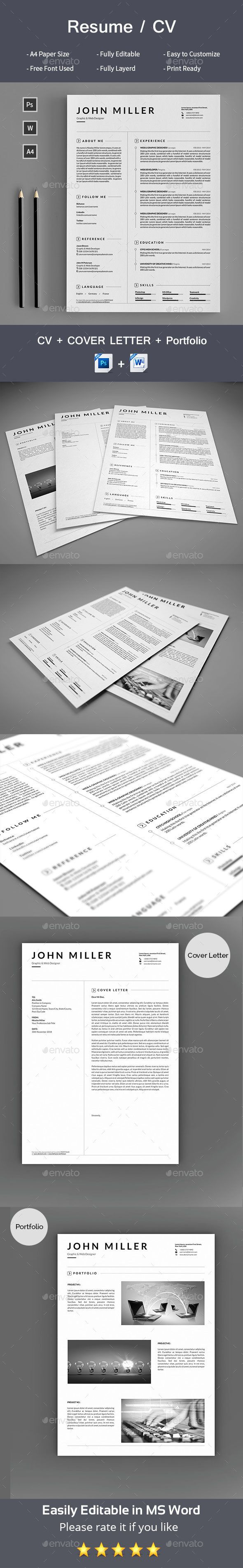 Resume 325 best Templates images on Pinterest