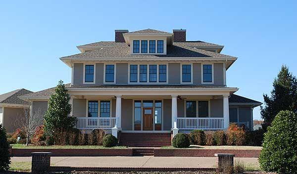 Plan 5496LK: Impressive 2-Story Craftsman House Plan