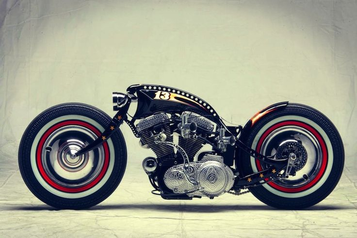 harley davidson custom motorbike side profile Harley Davidson Sportster Custom by Art of Racer