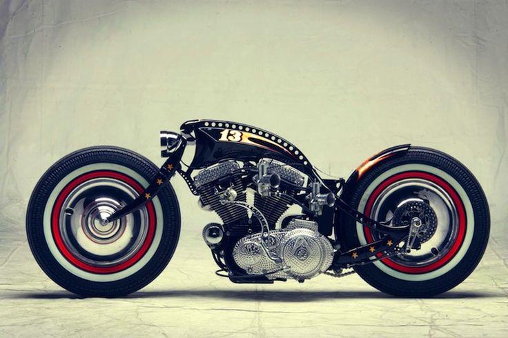 harley davidson custom motorbike side profile Harley Davidson Sportster Custom by Art of Racer