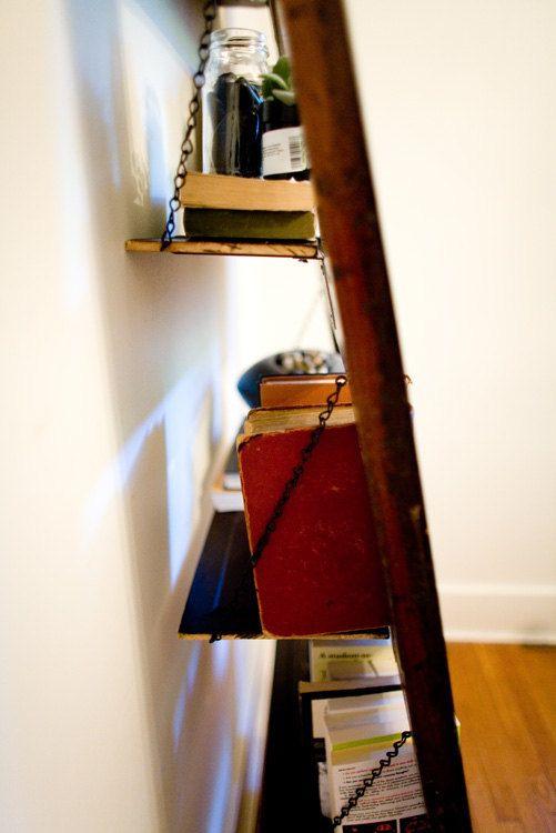 Vintage Door Repurposed Bookshelf by TheDoorShelfFactory via Etsy.