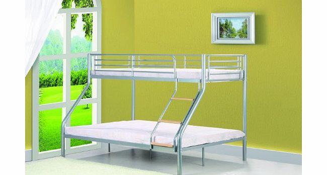 Comfy Living Single 3ft / Double 4ft6 Triple Metal Bunk Bed - Triple Sleeper No description (Barcode EAN = 0700604592955). http://www.comparestoreprices.co.uk/bunk-beds/comfy-living-single-3ft--double-4ft6-triple-metal-bunk-bed--triple-sleeper.asp