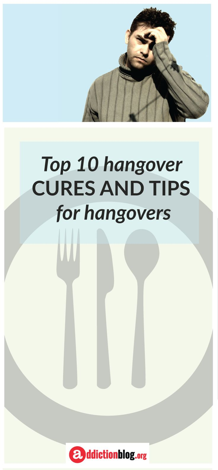"""Hangovers are the body's way to warn us when we drink too much. But, what can you do to make up for the imbalances caused by drinking too much #alcohol and help cure #hangovers? Check out these 10 tips for curing hangovers to learn more. """"a"""" is for addiction 
